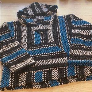 Baja Joe Eco-Friendly Woven Striped Pullover Baja